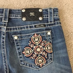 💕Miss me jeans boyfriend Capri sz 27 x 25 awesome